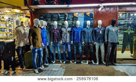 Mannequins Displaying Casual Dressing At Zainab Market, Saddar Bazar, Karachi Pakistan 6/09/2018