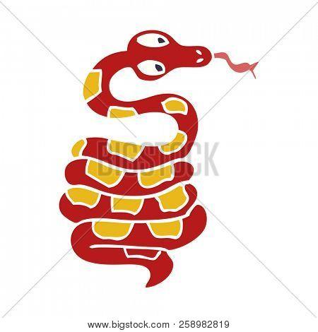 cartoon hissing snake poster