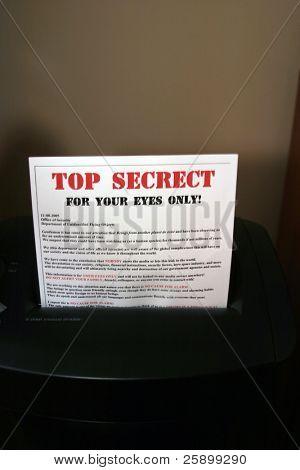 shredding secret documents