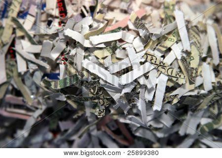 shredded secret documents