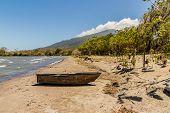 Ometepe Nicaragua. March 2018. A view of Lake Nicaragua on ometepe island in Nicaragua. poster