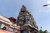 The Hindu Temple Koneswaram Kovil around Fort Frederick in Trincomalee. Taken in Sri Lanka, August 2018. poster