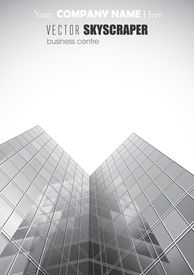 VECTOR  Skyscrapers For Your Business Poster.
