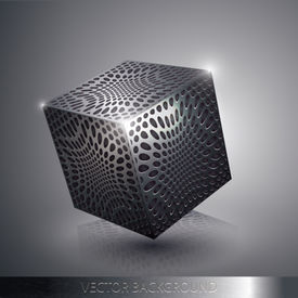 Vector Metallic Cube