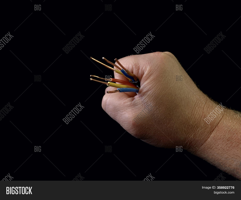 Open Copper Wires Male Image Photo Free Trial Bigstock