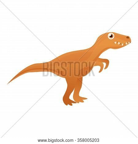Tyrannosaurus Icon. Cartoon Of Tyrannosaurus Vector Icon For Web Design Isolated On White Background