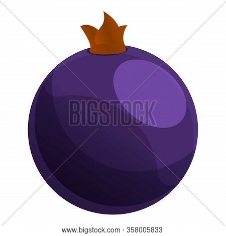 Currant Blackberry Icon. Cartoon Of Currant Blackberry Vector Icon For Web Design Isolated On White