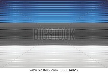 Shiny Grunge Flag Of The Estonia - Illustration,  Three Dimensional Flag Of Estonia