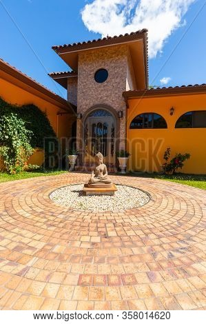 Orosi Costa Rica March 17 This Is The Main Entrance Of A Luxury Residence Sited In The Hills Of Oros