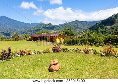 Orosi Costa Rica March 17 Frog In The Garden Of Luxury Houses Hidden In The Tropical Nature Of Orosi