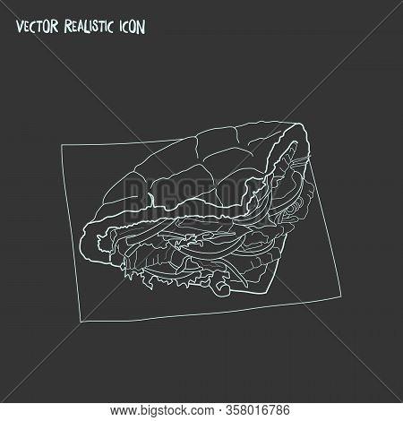 Turkish Doner Icon Line Element. Vector Illustration Of Turkish Doner Icon Line Isolated On Clean Ba