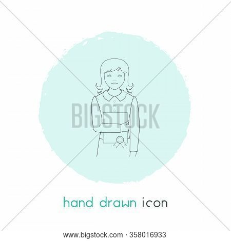 Basic Education Icon Line Element. Vector Illustration Of Basic Education Icon Line Isolated On Clea