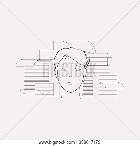 Hardworking Icon Line Element. Illustration Of Hardworking Icon Line Isolated On Clean Background Fo