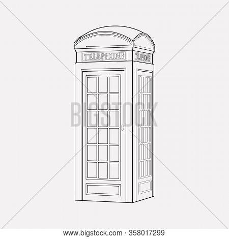 Telephone Box Icon Line Element. Illustration Of Telephone Box Icon Line Isolated On Clean Backgroun