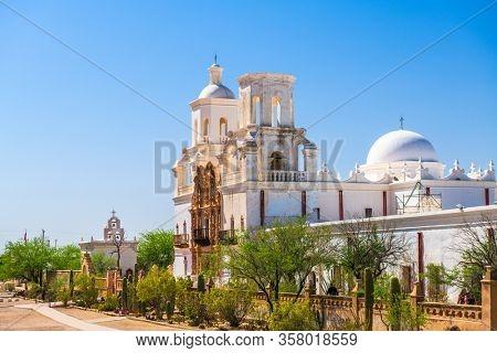 Tucson, Arizona, USA at historic  Mission San Xavier del Bac.