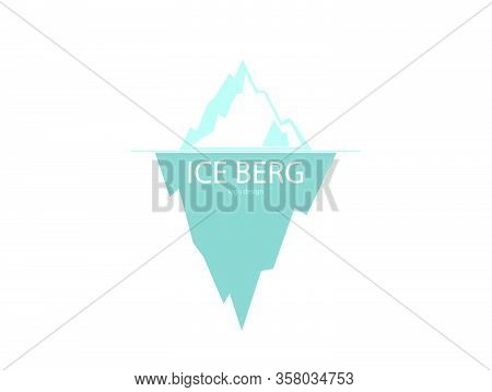 Ice Berg Logo Design On The White Background