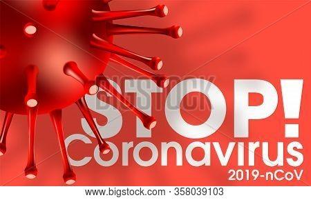 Flu Covid-19 Virus Cell Virus Background. China Pathogen Respiratory Coronavirus 2019-ncov Flu Outbr