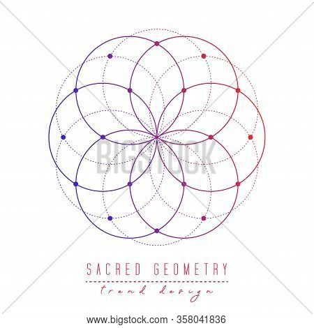 Sacred Geometry Vector Design Elements. Alchemy, Religion, Philosophy, Spirituality, Hipster Symbols