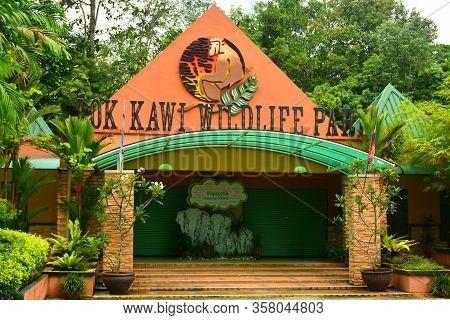 Sabah, My - June 20: Lok Kawi Wildlife Park Facade On June 20, 2016 In Sabah, Malaysia. Lok Kawi Wil
