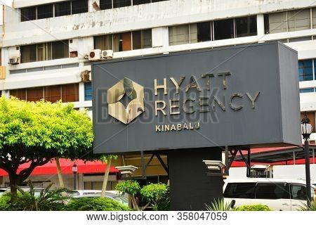 Kota Kinabalu, My - June 21: Hyatt Regency Kinabalu Sign On June 21, 2016 In Malaysia. Hyatt Regency