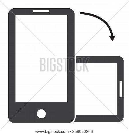 Rotate Smartphone Icon On White Background. Flat Style. Rotate Smartphone Icon For Your Web Site Des