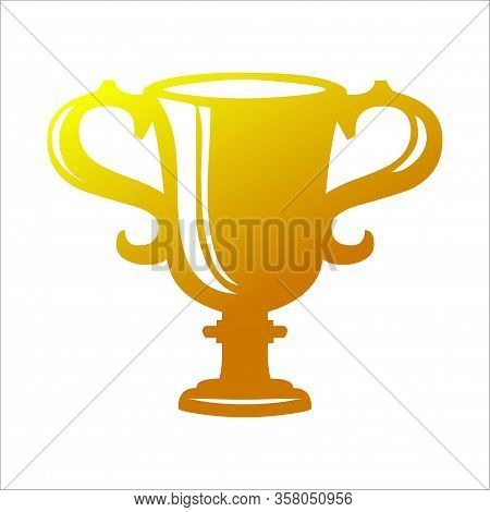 Trophy Icon Isolated On White Background. Trophy Icon In Trendy Design Style. Trophy Vector Icon Mod