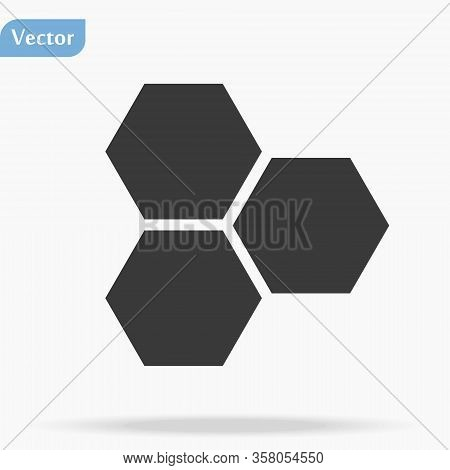 Honeycombs Icon Vector. Trendy Flat Honeycombs Icon On White Background. Vector Illustration Can Be