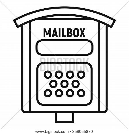Letterbox Icon. Outline Letterbox Vector Icon For Web Design Isolated On White Background