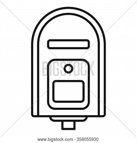 Full Mailbox Icon. Outline Full Mailbox Vector Icon For Web Design Isolated On White Background