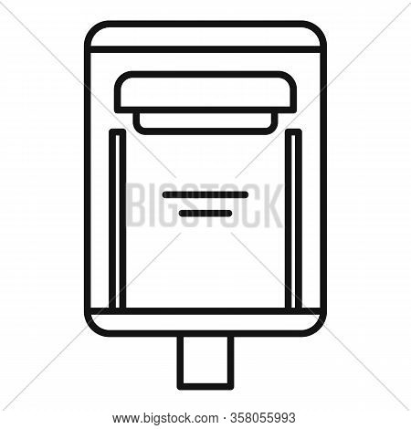 Correspondence Mailbox Icon. Outline Correspondence Mailbox Vector Icon For Web Design Isolated On W