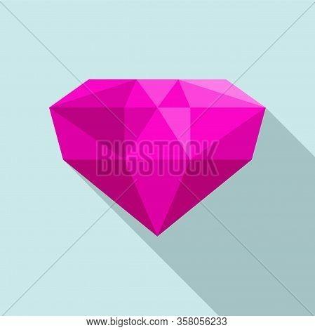 Precious Jewel Icon. Flat Illustration Of Precious Jewel Vector Icon For Web Design