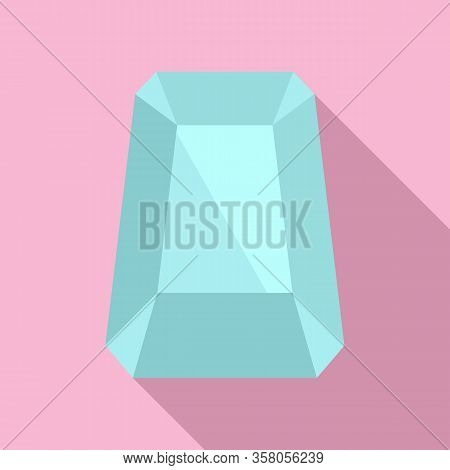Hipster Jewel Icon. Flat Illustration Of Hipster Jewel Vector Icon For Web Design