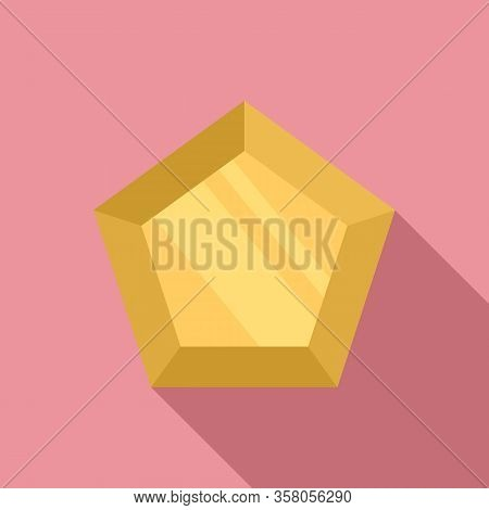 Marquise Gemstone Icon. Flat Illustration Of Marquise Gemstone Vector Icon For Web Design