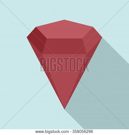 Radian Gemstone Icon. Flat Illustration Of Radian Gemstone Vector Icon For Web Design
