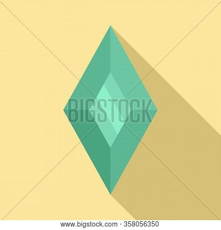 Shiny Jewel Icon. Flat Illustration Of Shiny Jewel Vector Icon For Web Design
