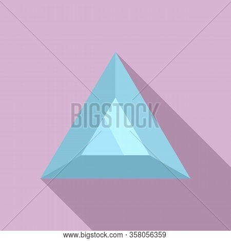 Stone Jewel Icon. Flat Illustration Of Stone Jewel Vector Icon For Web Design