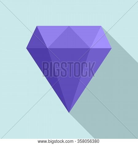 Perfection Gemstone Icon. Flat Illustration Of Perfection Gemstone Vector Icon For Web Design