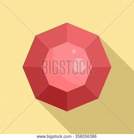 Collection Gemstone Icon. Flat Illustration Of Collection Gemstone Vector Icon For Web Design