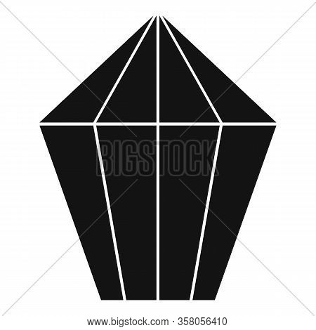 Jewel Shape Icon. Simple Illustration Of Jewel Shape Vector Icon For Web Design Isolated On White Ba