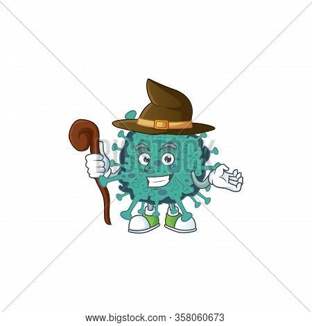 Sweet And Tricky Witch Critical Coronavirus Cartoon Character