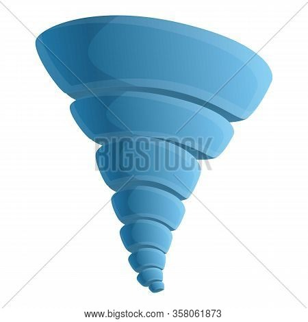 Tornado Icon. Cartoon Of Tornado Vector Icon For Web Design Isolated On White Background