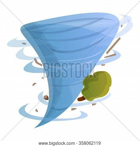 Funnel Nature Disaster Tornado Icon. Cartoon Of Funnel Nature Disaster Tornado Vector Icon For Web D