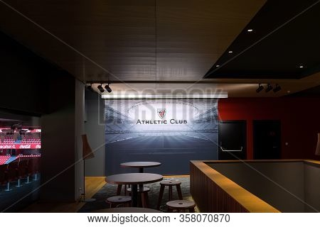 Bilbao, Spain, July 29, 2018: Interiors Of The San Mames Football Stadium In Bilbao, Basque Country,