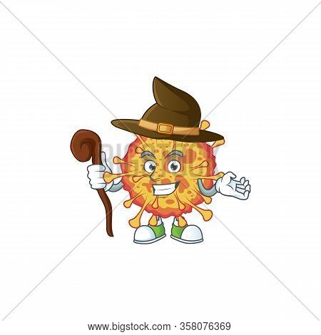 Sweet And Tricky Witch Epidemic Covid19 Cartoon Character