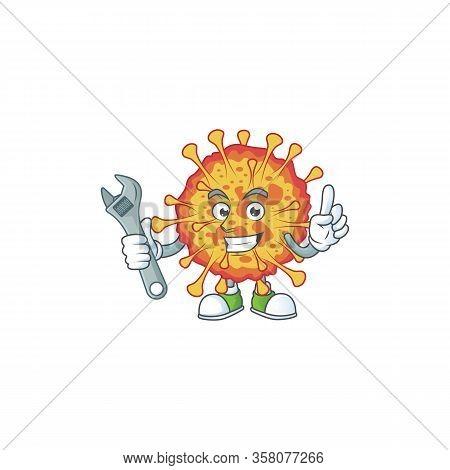 Mascot Design Concept Of Epidemic Covid19 Mechanic