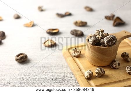 Asian Cuisine - Bowl  Of Dry Mushrooms