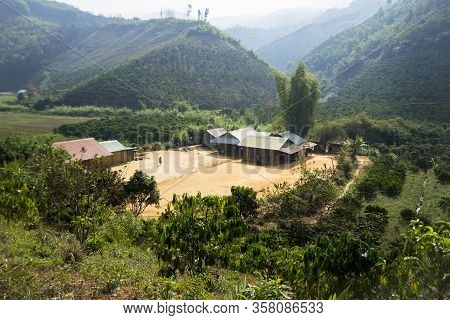 These Houses Were Built Legally On Top Of Moutain, Dak Nong, Vietnam