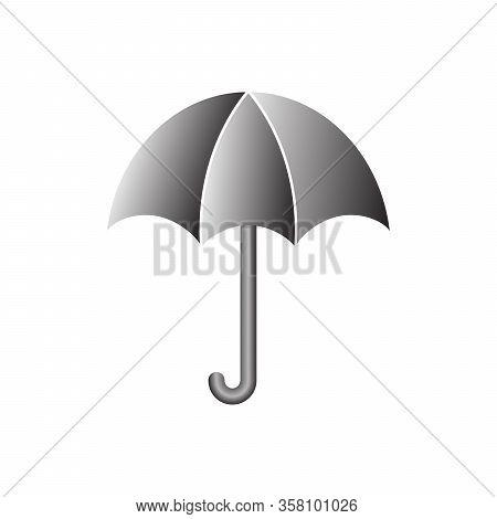 Umbrella Icon - Vector. Black Umbrella. Umbrella Icon Isolated.