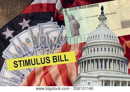 Senate Stimulus Deal Includes Individual Checks Virus Economic Stimulus Plan Usa Dollar Cash Banknot