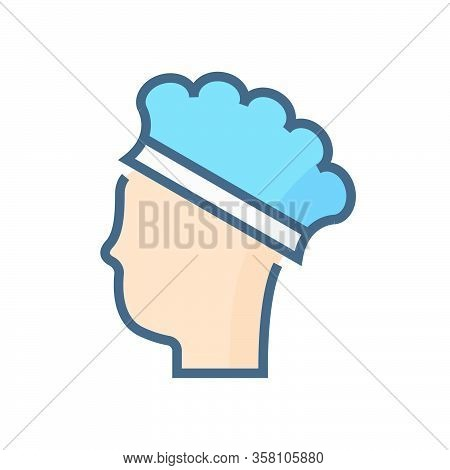Cap Hair Or Safety Equipment Vector Icon Design, 64x64 Pixel Perfect And Editable Stroke.